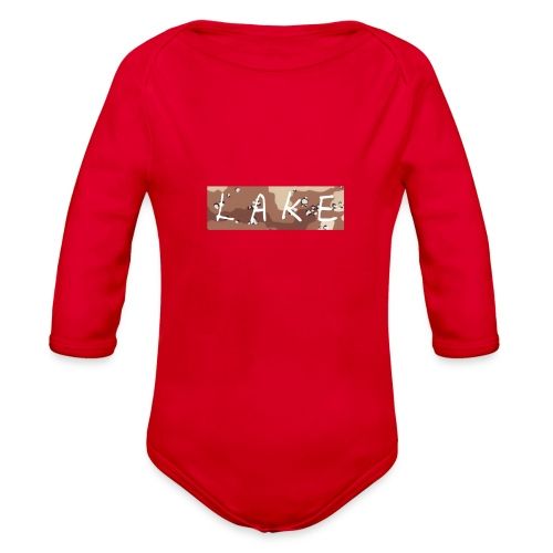 LAKE_LOGO2 - Organic Long Sleeve Baby Bodysuit