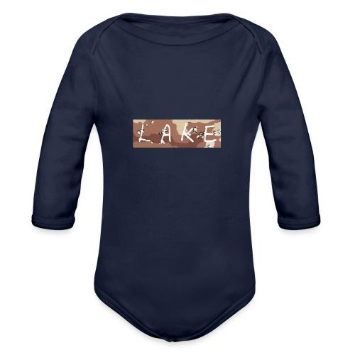 LAKE_LOGO2 - Organic Long Sleeve Baby Bodysuit