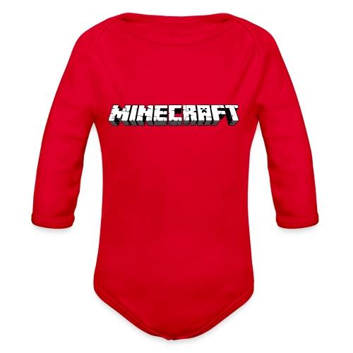 Mincraft MERCH - Organic Long Sleeve Baby Bodysuit