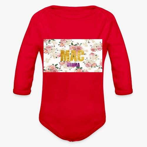 drama - Organic Long Sleeve Baby Bodysuit