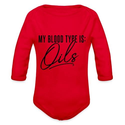 Blood Type - Organic Long Sleeve Baby Bodysuit