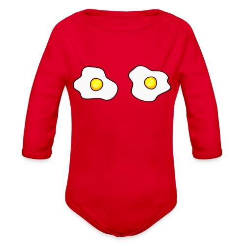 Eggs - Organic Long Sleeve Baby Bodysuit