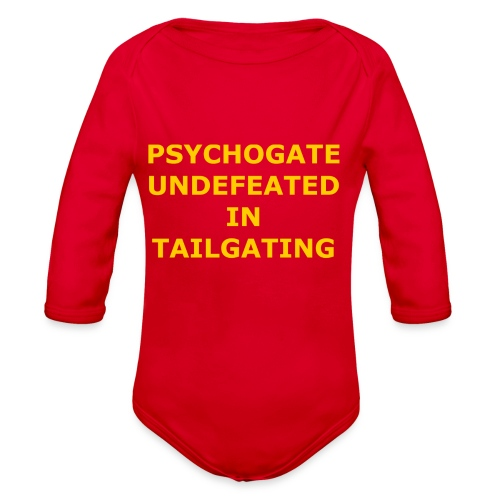 Undefeated In Tailgating - Organic Long Sleeve Baby Bodysuit