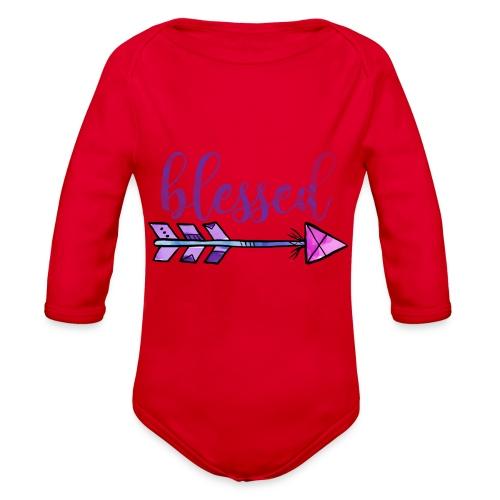 Blessed Boho Christian Design - Organic Long Sleeve Baby Bodysuit