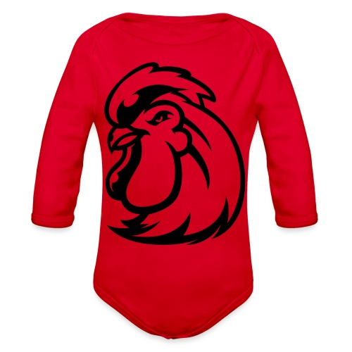 Peckers head t - Organic Long Sleeve Baby Bodysuit