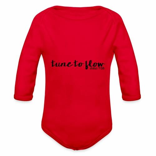 Tune to Flow - Design 1 - Organic Long Sleeve Baby Bodysuit
