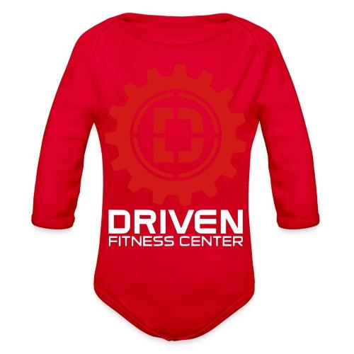 Stacked Logo - Organic Long Sleeve Baby Bodysuit