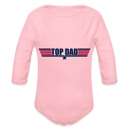 Top Dad - Organic Long Sleeve Baby Bodysuit