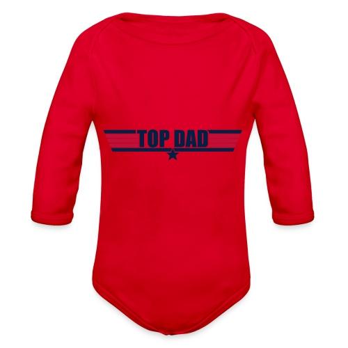 Top Dad - Organic Long Sleeve Baby Bodysuit
