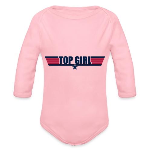 Top Girl - Organic Long Sleeve Baby Bodysuit