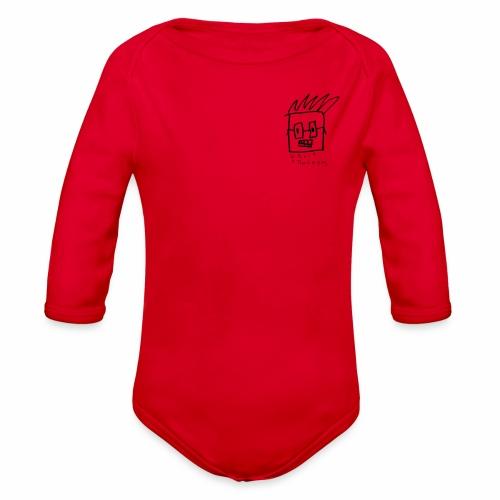 Uncle Knackers Self Portrait. - Organic Long Sleeve Baby Bodysuit