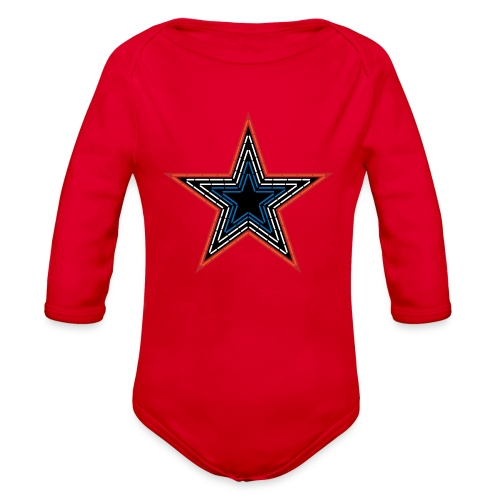 Roanoke Virginia Pride Mill Mountain Star - Organic Long Sleeve Baby Bodysuit