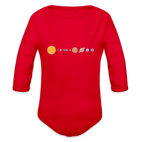 Flat earth conspiracy theory humor illustration - Organic Long Sleeve Baby Bodysuit