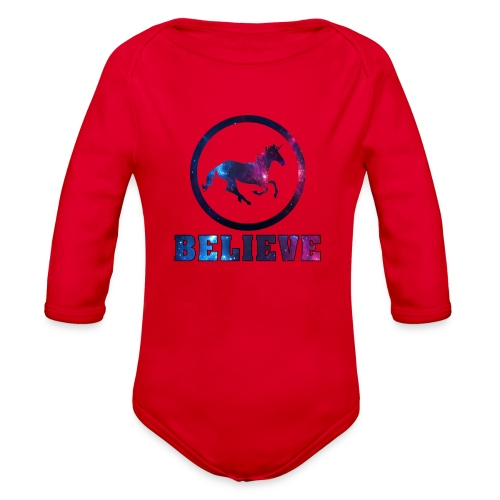 Believe Unicorn Universe 4 - Organic Long Sleeve Baby Bodysuit