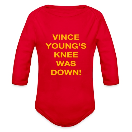 Vince Young's Knee Was Down - Organic Long Sleeve Baby Bodysuit