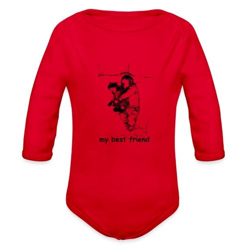 My Best Friend (baby) - Organic Long Sleeve Baby Bodysuit