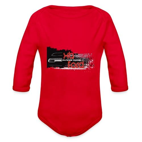 XB Coupe skid - Organic Long Sleeve Baby Bodysuit