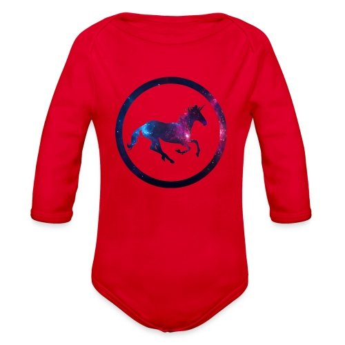 Believe Unicorn Universe 1 - Organic Long Sleeve Baby Bodysuit