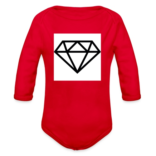 diamond outline 318 36534 - Organic Long Sleeve Baby Bodysuit