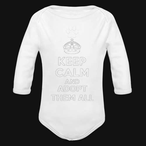 KEEP CALM2 white - Organic Long Sleeve Baby Bodysuit