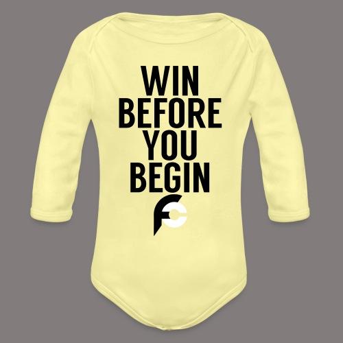 Win Before You Begin - Organic Long Sleeve Baby Bodysuit