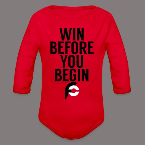 Win Before You Begin - Organic Long Sleeve Baby Bodysuit
