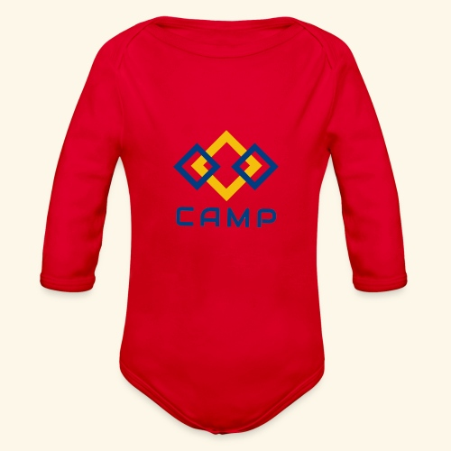 CAMP LOGO and products - Organic Long Sleeve Baby Bodysuit