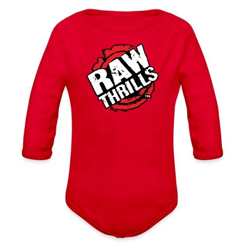 Raw Thrills - Organic Long Sleeve Baby Bodysuit