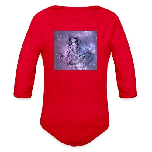 Galaxy Mermaid - Organic Long Sleeve Baby Bodysuit