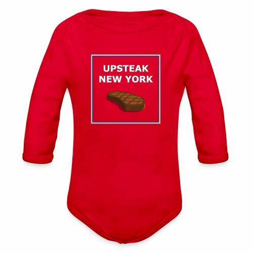 Upsteak New York | July 4 Edition - Organic Long Sleeve Baby Bodysuit