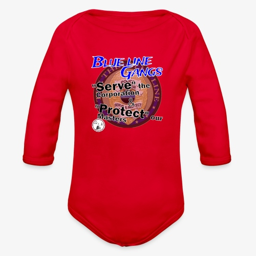 Thin Blue Line - To Serve and Protect - Organic Long Sleeve Baby Bodysuit