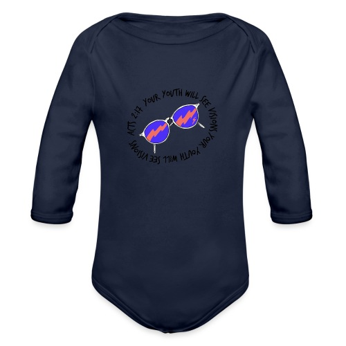 oie_transparent_-1- - Organic Long Sleeve Baby Bodysuit