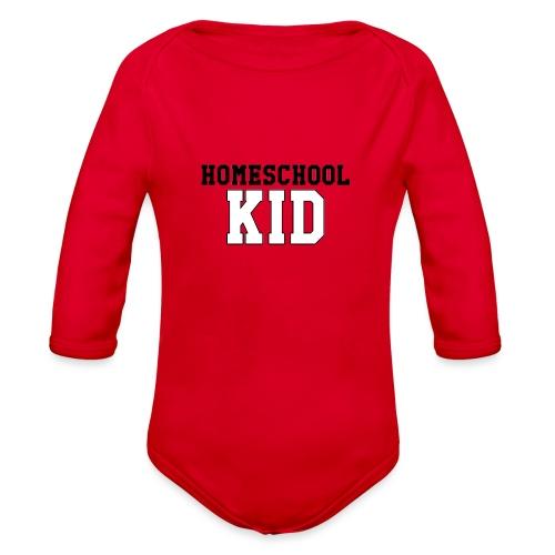 homeschoolkid - Organic Long Sleeve Baby Bodysuit