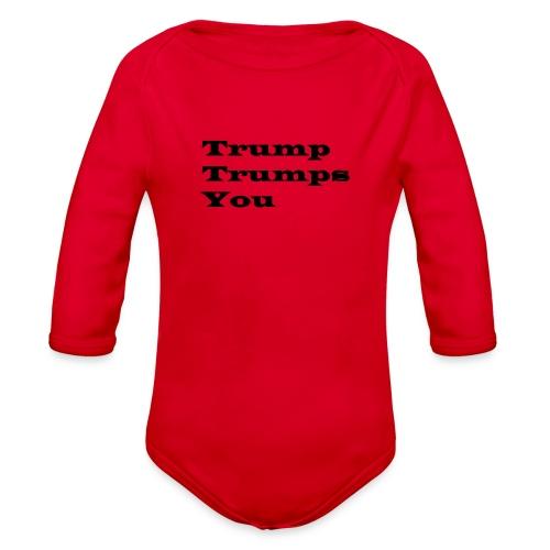 T1 - Organic Long Sleeve Baby Bodysuit