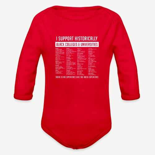 Support HBCUs List - Organic Long Sleeve Baby Bodysuit