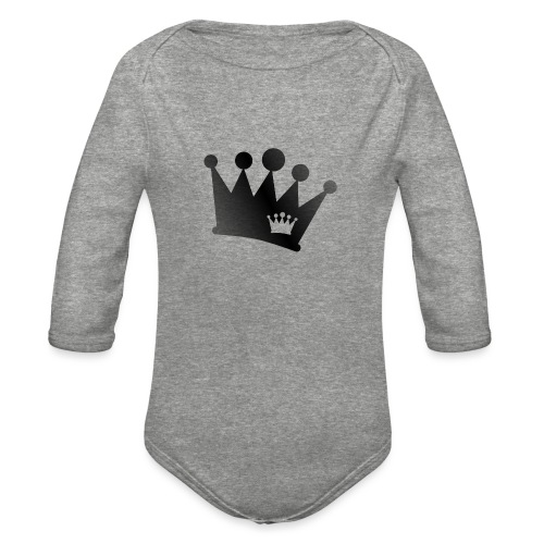 Double Crown black - Organic Long Sleeve Baby Bodysuit