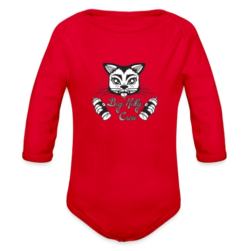 Big Kitty Spray Paint - Organic Long Sleeve Baby Bodysuit