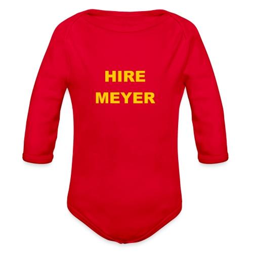 Hire Meyer - Organic Long Sleeve Baby Bodysuit