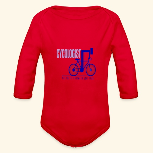 Cycologist T Shirt for Men, Women, Kids, Babies - Organic Long Sleeve Baby Bodysuit