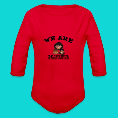 You are Beautiful Black Woman - Organic Long Sleeve Baby Bodysuit