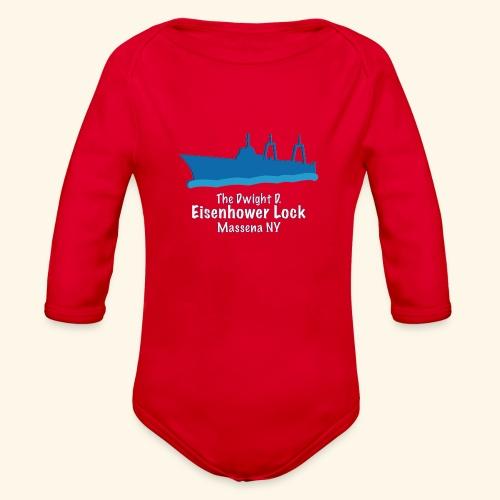 Eisenhower Lock Blue - Organic Long Sleeve Baby Bodysuit