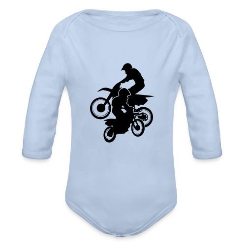 Motocross Dirt Bikes Off-road Motorcycle Racing - Organic Long Sleeve Baby Bodysuit