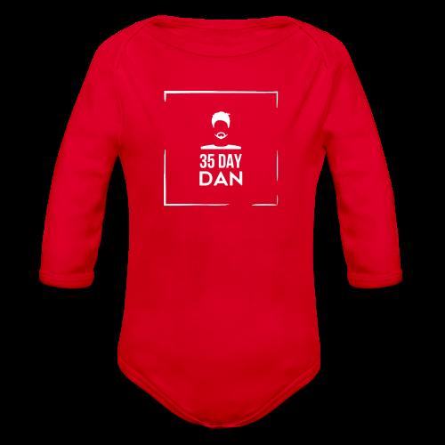 35DD Male White - Organic Long Sleeve Baby Bodysuit
