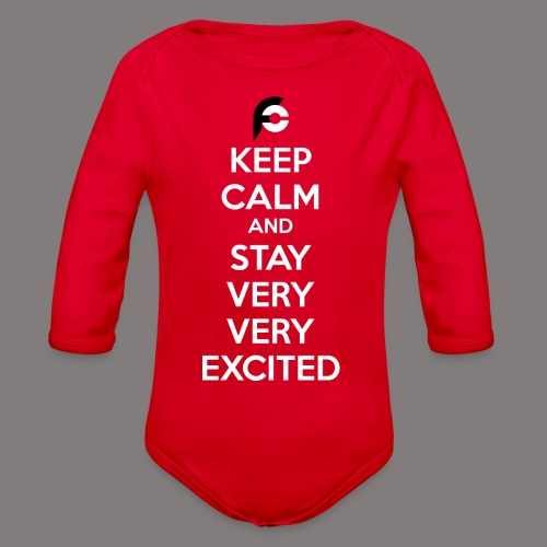 STAY EXCITED Spreadshirt - Organic Long Sleeve Baby Bodysuit