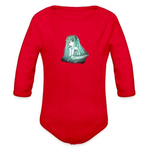 Summrrz Logo Transparent - Organic Long Sleeve Baby Bodysuit