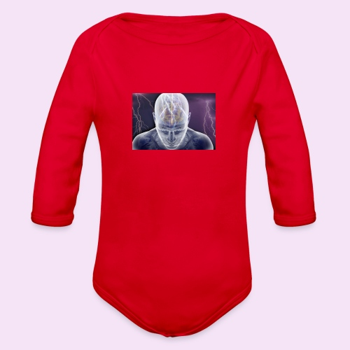 Brain storm - Organic Long Sleeve Baby Bodysuit