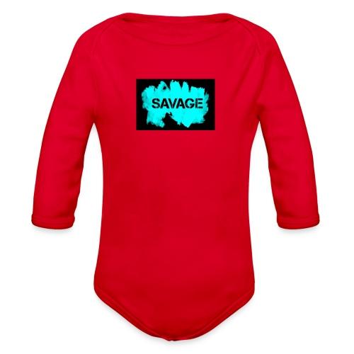 Babies SAVAGE T-Shirt - Organic Long Sleeve Baby Bodysuit