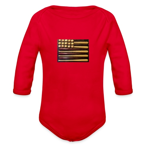 Baby baseball shirt - Organic Long Sleeve Baby Bodysuit