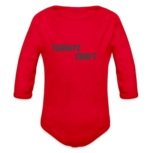 TurkiyeCrafts Solid Logo - Organic Long Sleeve Baby Bodysuit