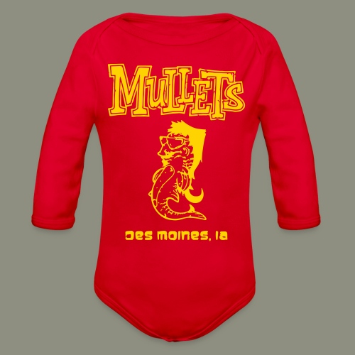 Mullets Color Series - Organic Long Sleeve Baby Bodysuit